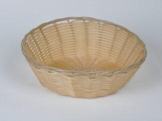Хлебница плетеная кремовая