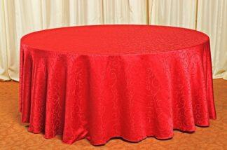 Скатерть для круглого стола красная