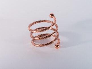 Кольцо для салфеток  спираль розовое золото 2018 VIP