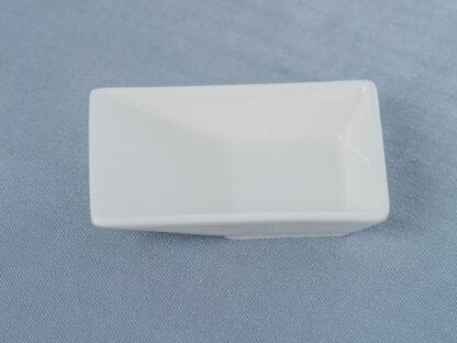 Ложка фарфоровая для фуршета (прямоугольная)