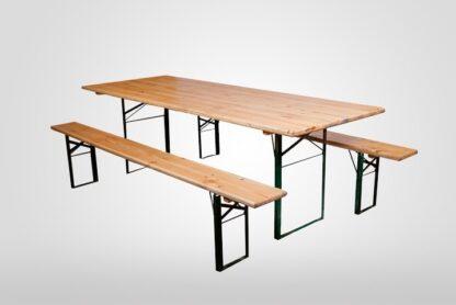 Стол прямоугольный деревянный с лавками