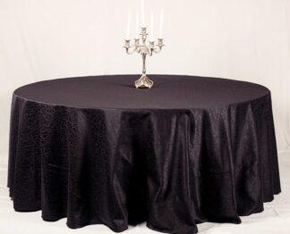 Скатерть для круглого стола черная